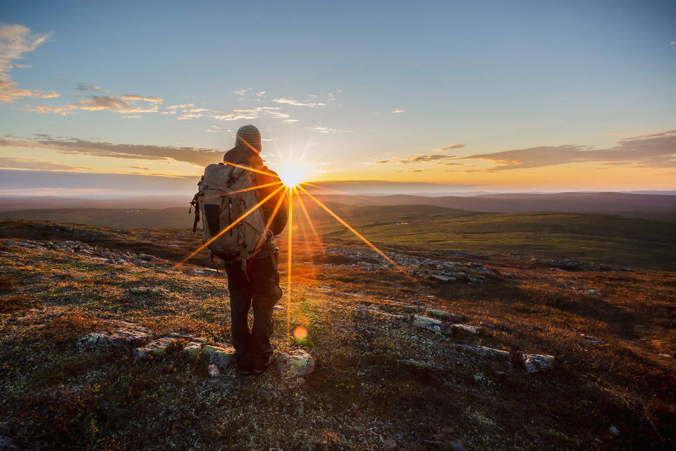 The sun shines nonstop for more than two months in Finnish Lapland. Fell tops are great spots to photograph the magical arctic light.